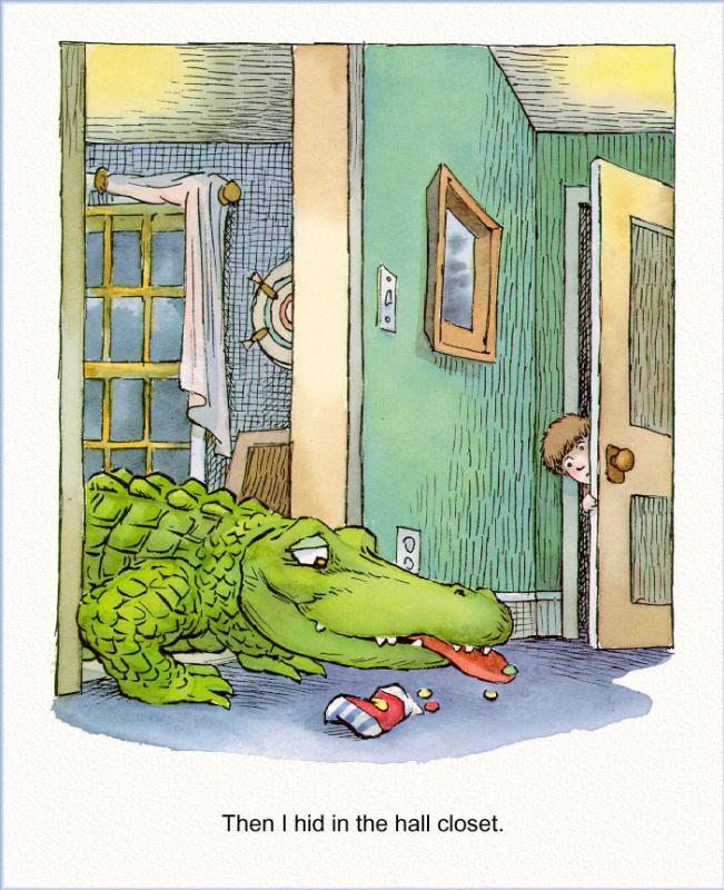 Иллюстрация к книге Там крокодил под моей кроватью 16