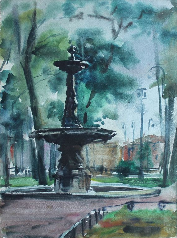 John Jonovich Polishchuk. Fountain in the Rumyantsev Garden