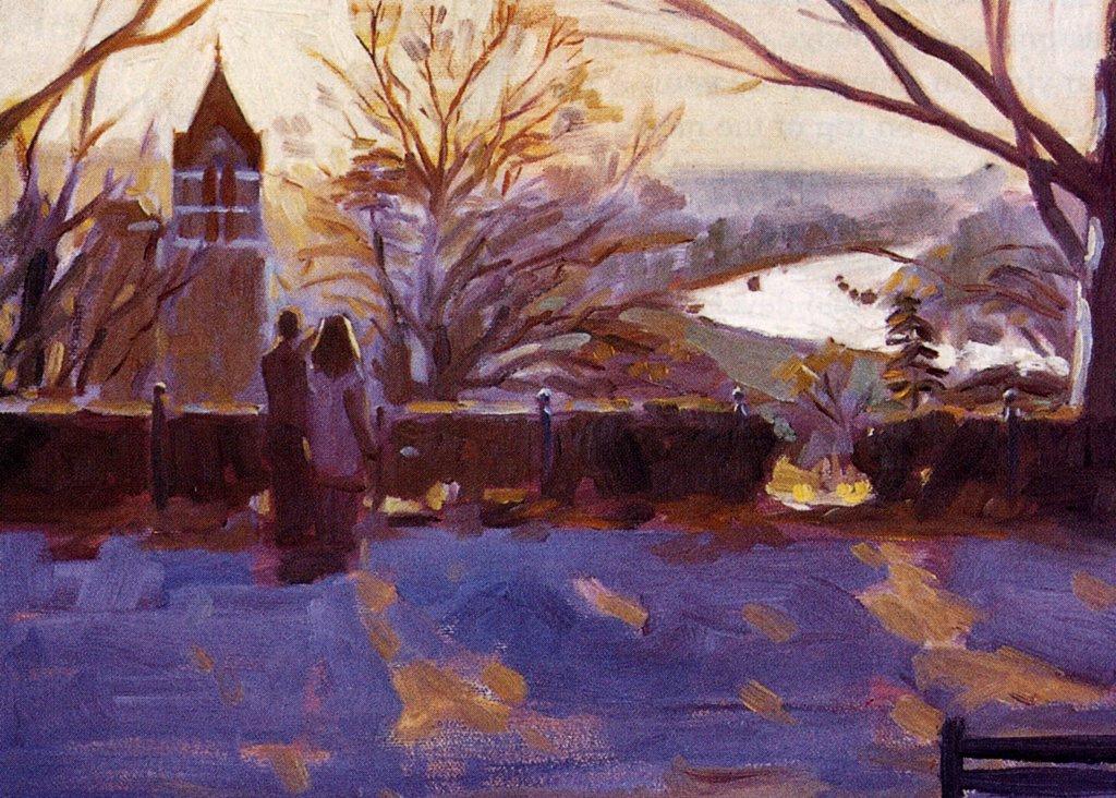 Aldo Balding. Winter day in Richmond hill