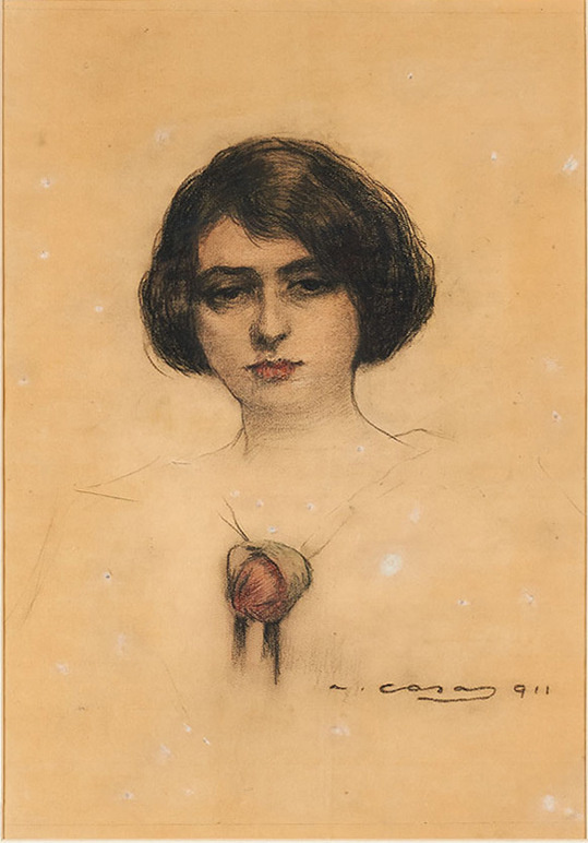 Ramon Casas i Carbó. Julia with a flower