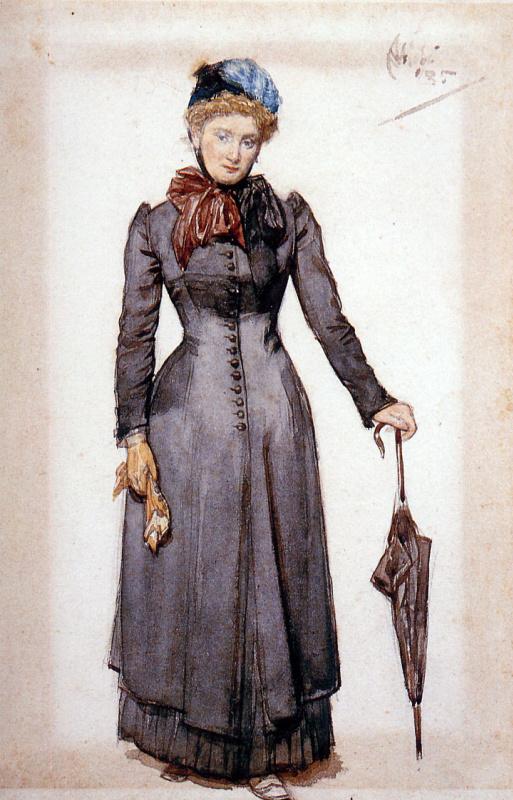 Август Аллеб. Дама с зонтиком