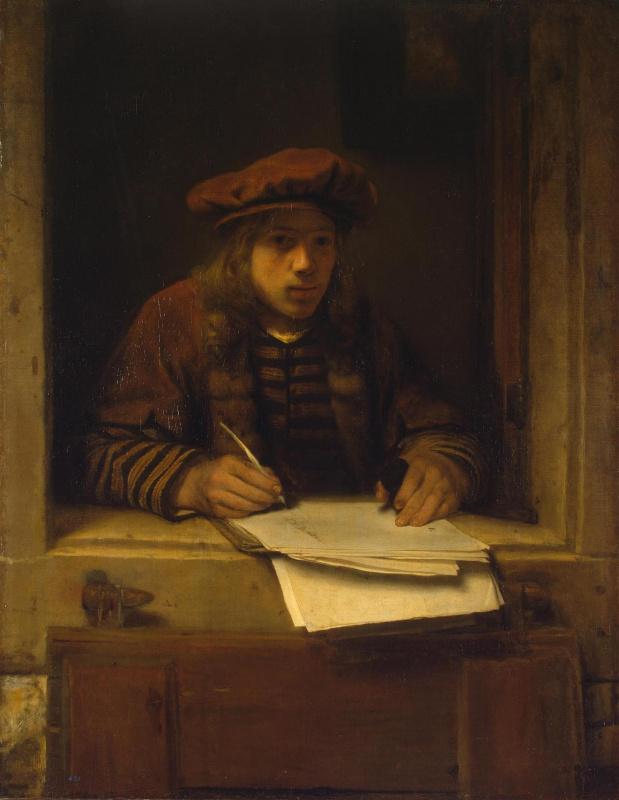 Samuel van Hogstraaten. Self-portrait