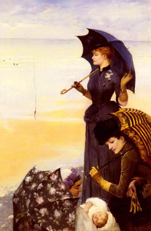 Альберт Аублет. Девушка с зонтом