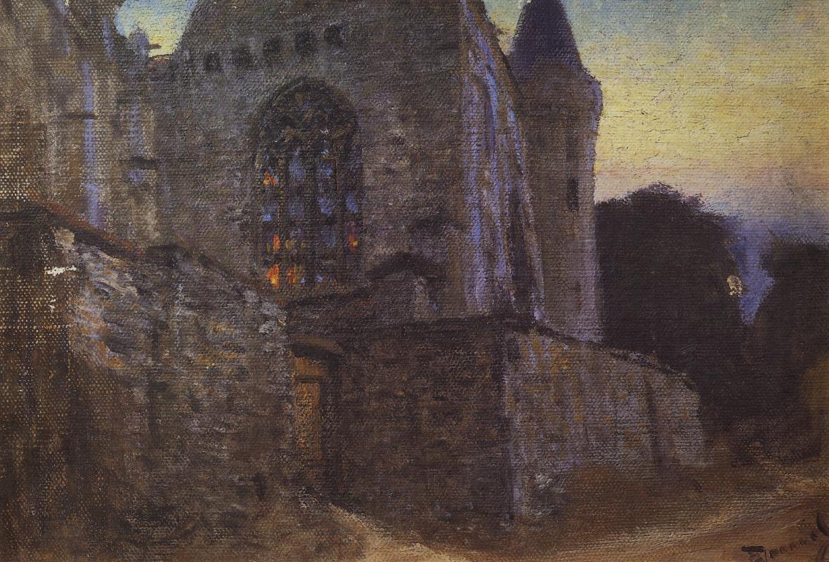 Vasily Polenov. Abbey in Redon