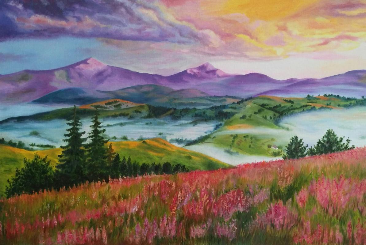 Olga Nadtochaeva. Magical landscape
