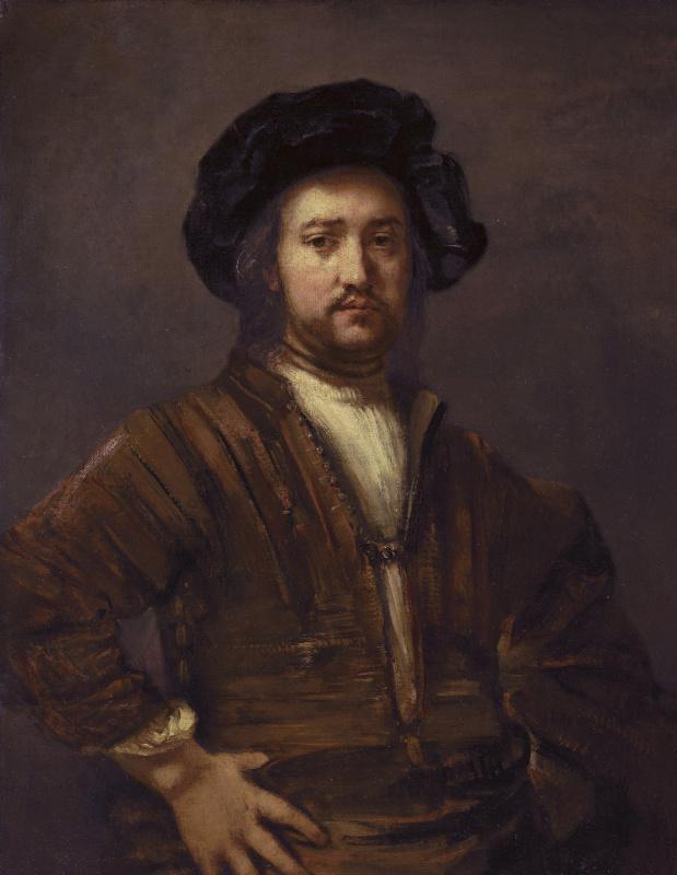 Рембрандт Харменс ван Рейн. Портрет мужчины с рукой на боку