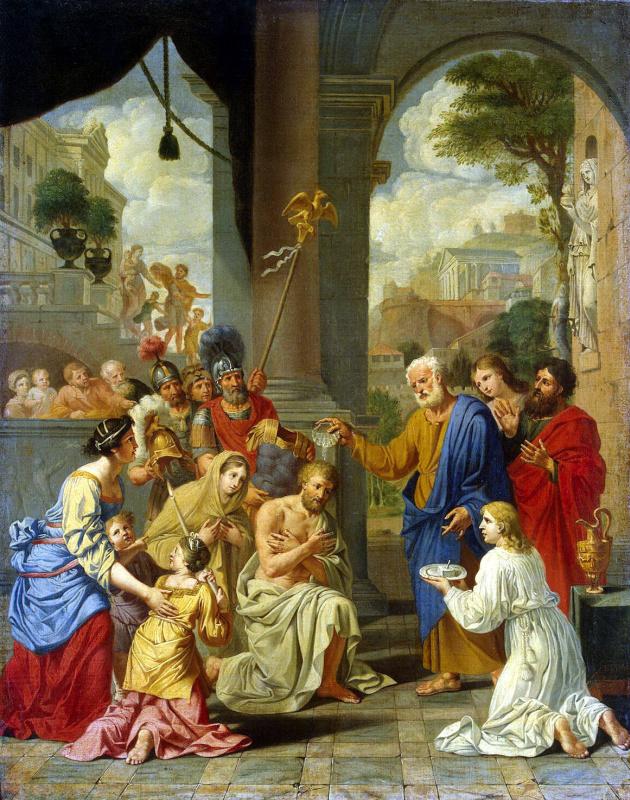 Мишель Старший Корнель. Крещение сотника