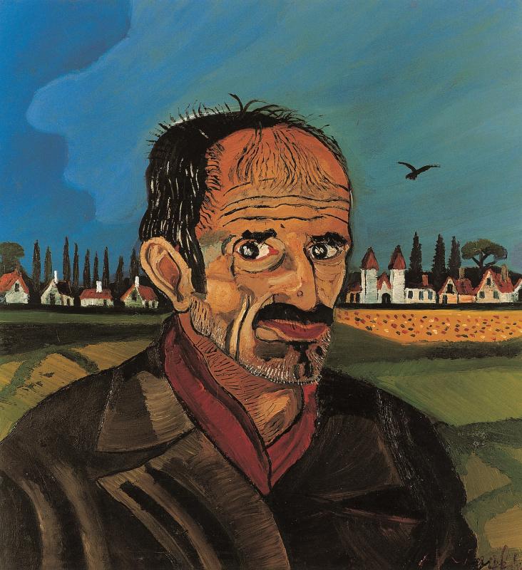 Антонио Лигабуэ. Автопортрет