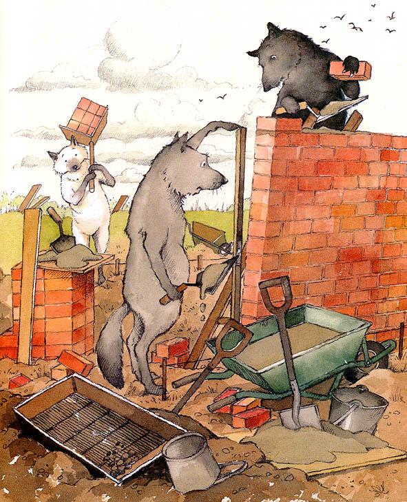 Хелен Охенбуру. Три маленьких волчонка и большой плохой свин 27