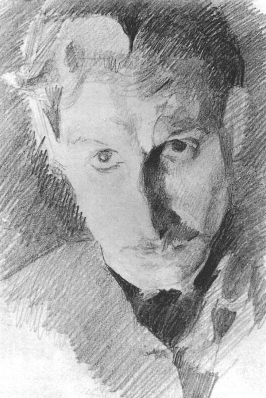 Михаил Александрович Врубель. Автопортрет. Набросок