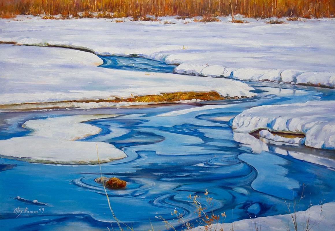 Alexander Romm. Ice melts in spring