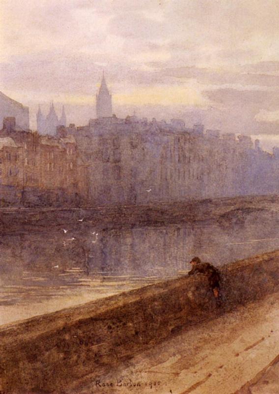 Роуз Мейнард Бартон. Вечер на реке Лиффи с церковью Св. Иоанна вдалеке