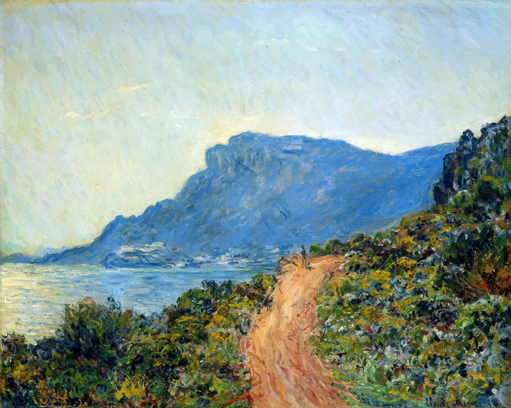 Claude Monet. Mountain road in Monaco