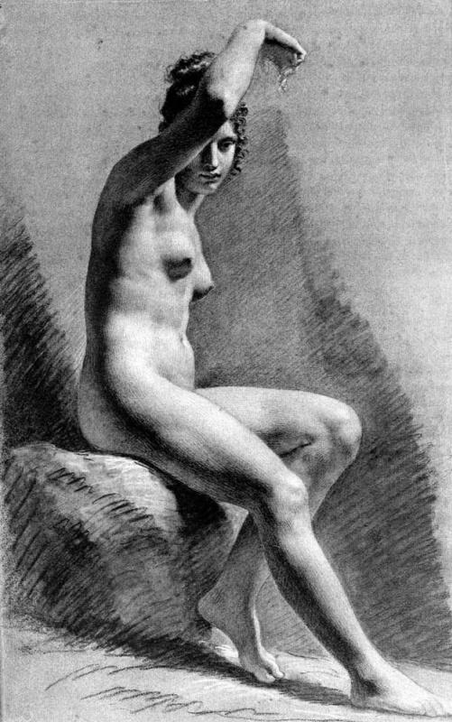 Пьер-Поль Прюдон. Сидящая обнаженная
