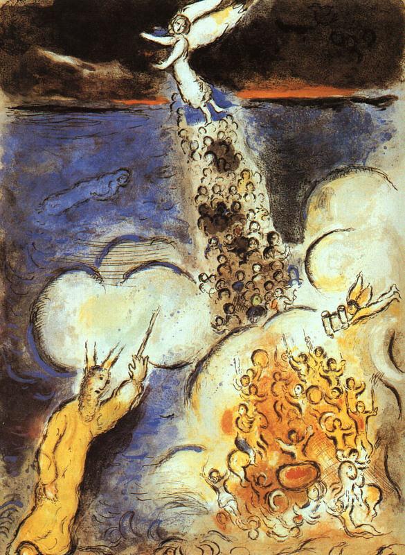Марк Захарович Шагал. Моисей обрушивает воду на египетскую армию