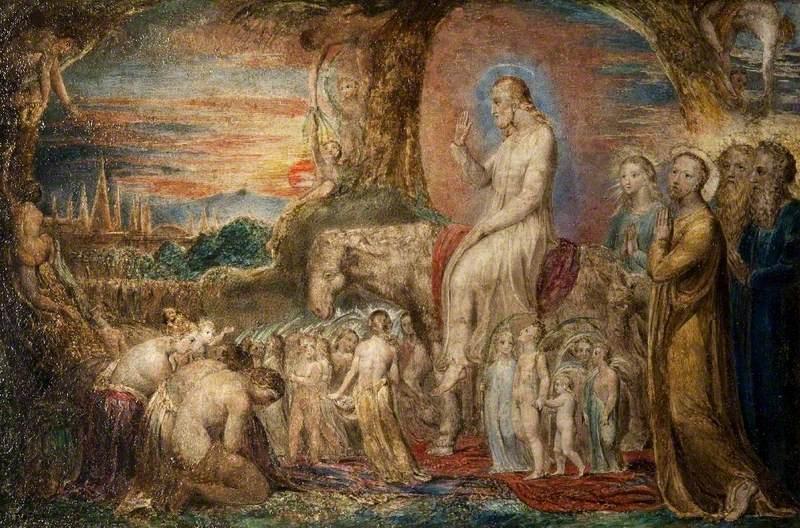 William Blake. The entrance of Christ into Jerusalem