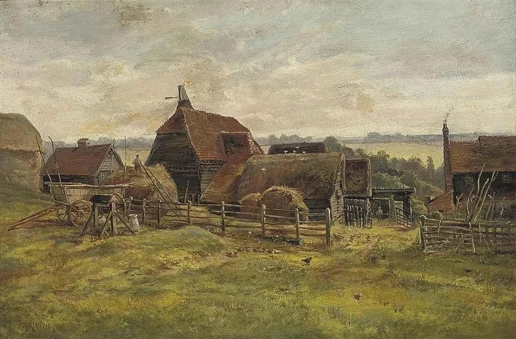 Frederick William Burton. Manor house