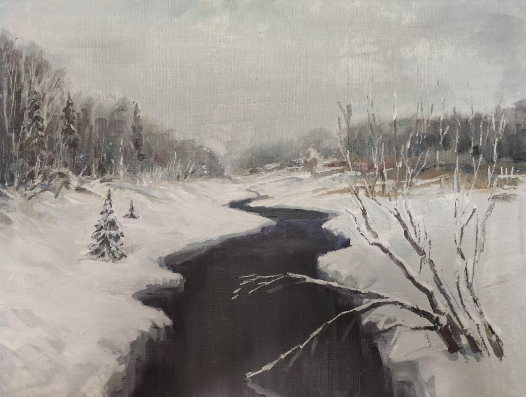 Renat Khusnullovich Khaliulin. Winter river