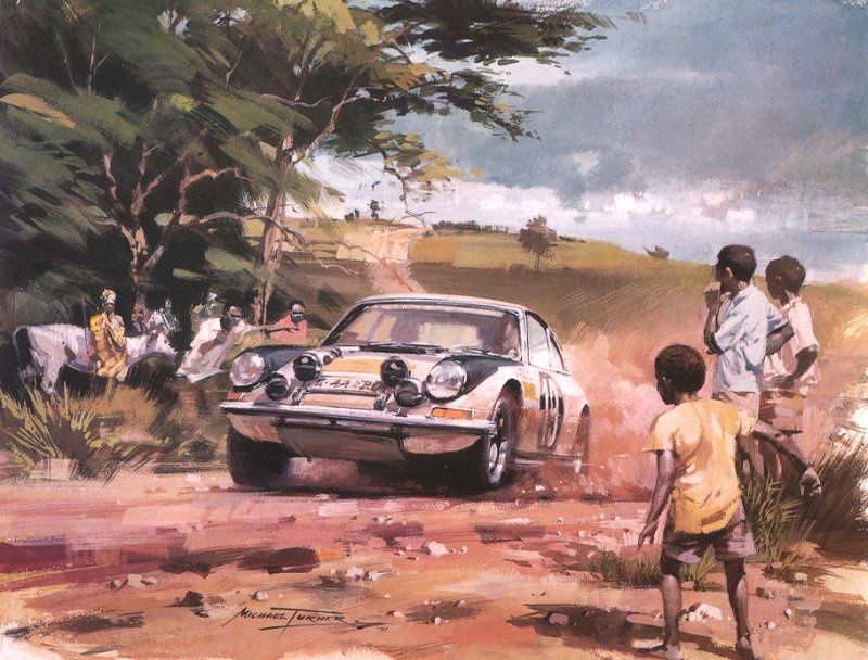 Roy Rob. Admiring the car