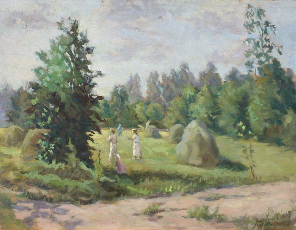 Yefim Davydovich Padva. Haymaking
