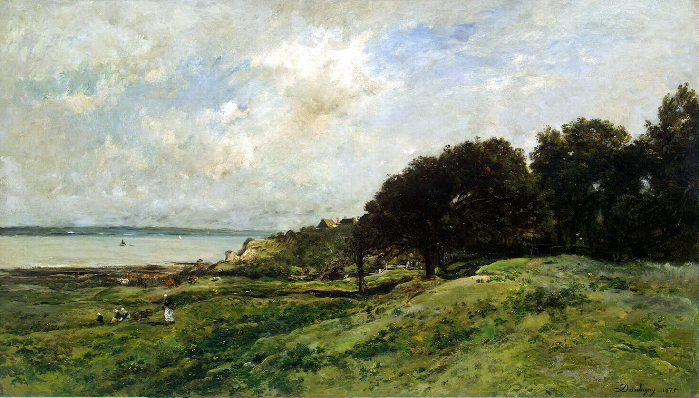 Шарль-Франсуа Добиньи. Берег моря в Виллервиле