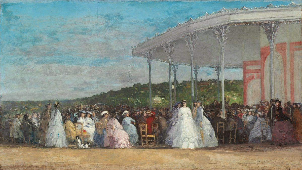 Eugene Boudin. The concert at the casino of Deauville