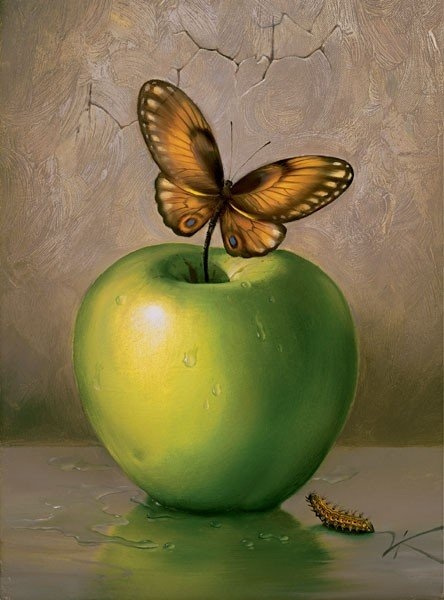 Vladimir Kush. Green Apple