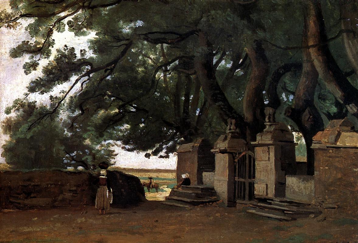Камиль Коро. Ворота в тени деревьев