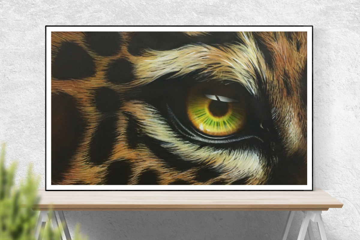 "Khristina Igorevna Belousova. Airbrush ""Eye of the Tiger"""