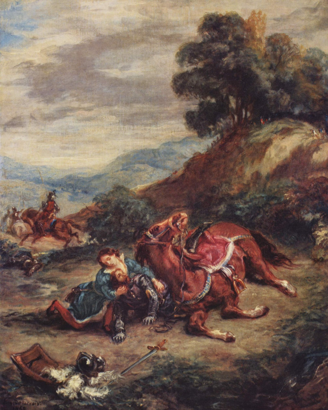 Eugene Delacroix. Death Larasa