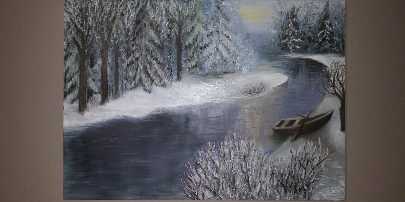 Sara Astaeva. Winter forest