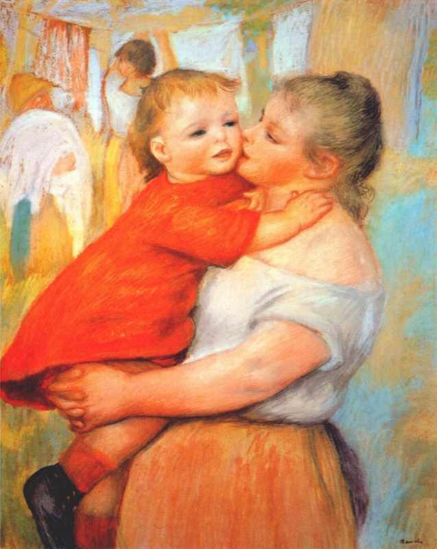 Pierre-Auguste Renoir. Alina and Pierre. Mother and child
