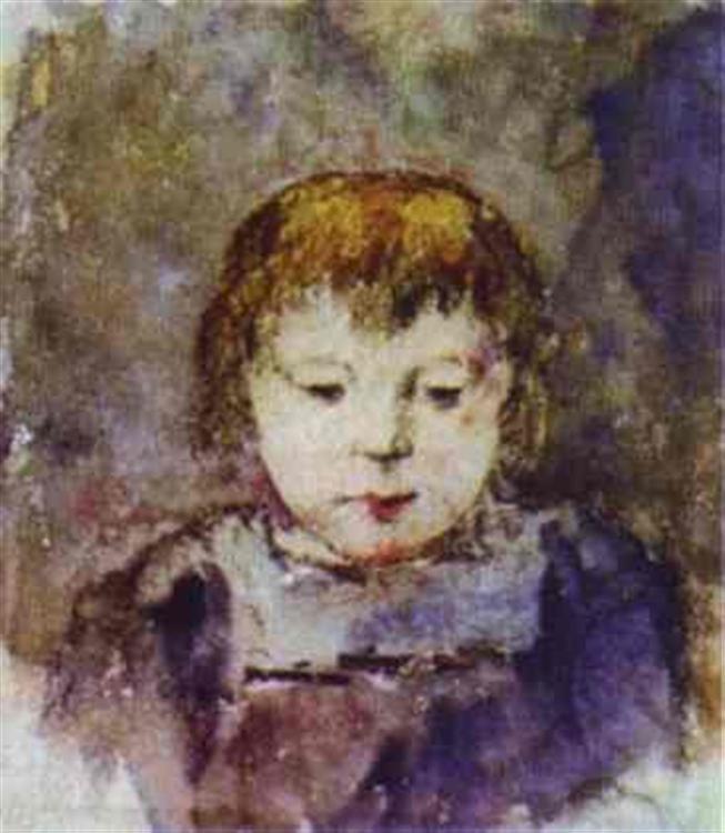 Paul Gauguin. Portrait of Gaugin's daughter Aline
