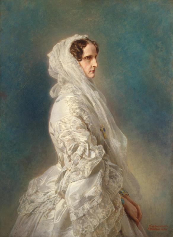 Franz Xaver Winterhalter. Portrait of Empress Alexandra Feodorovna