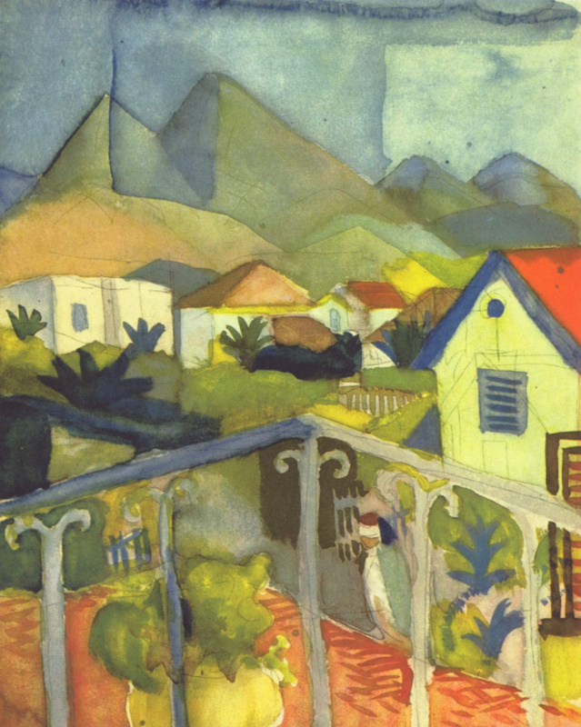 August Macke. St Germain near Tunis