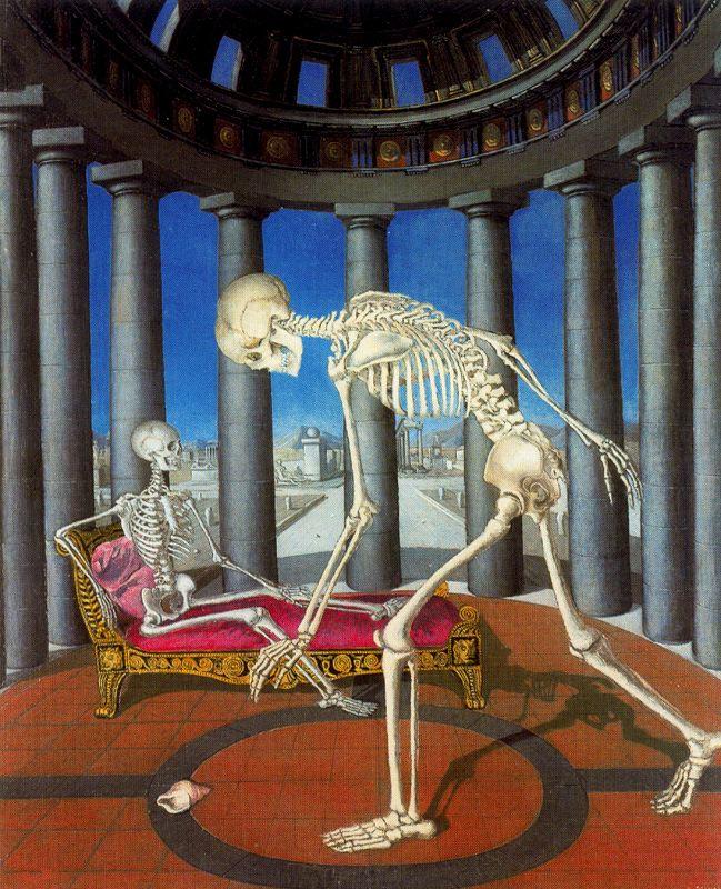 Поль Дельво. Скелет с раковиной