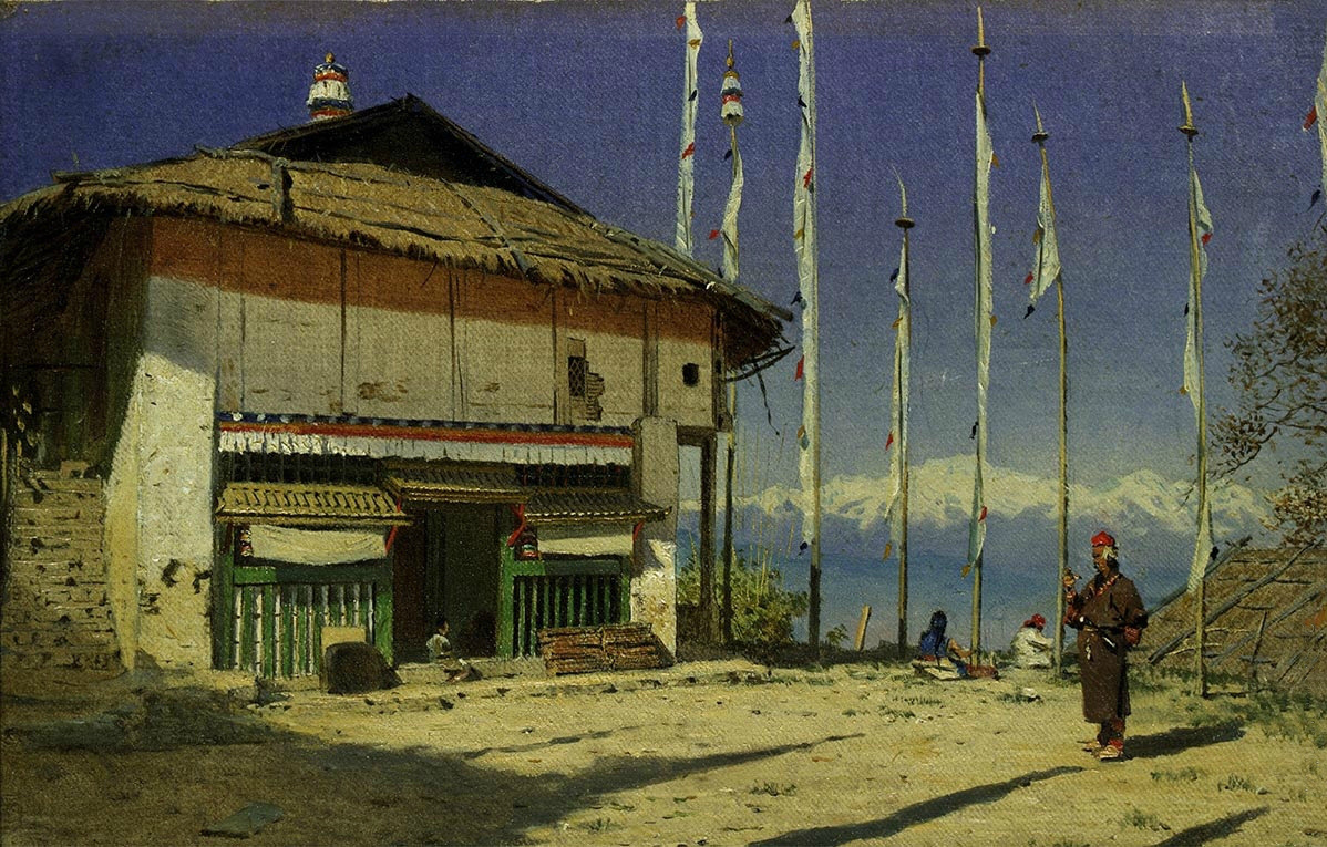 Vasily Vereshchagin. Buddhist temple in Darjeeling. Sikkim