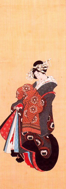 Кацусика Хокусай. Стоящая девушка
