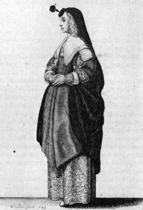Венцель Холлар. Благородная кельнская дама