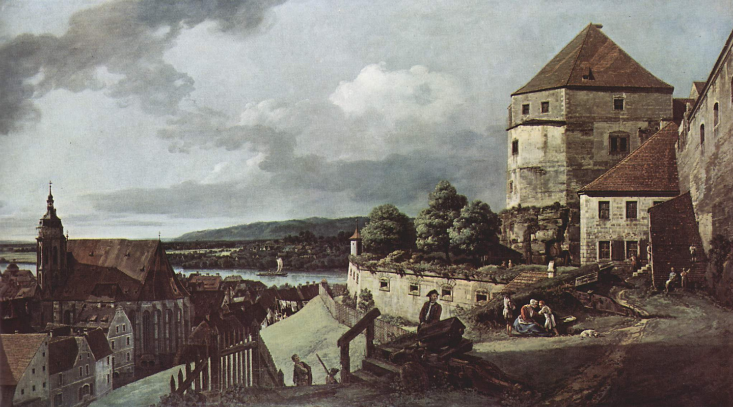 Giovanni Antonio Canal (Canaletto). View of Pirna, Pirna from the fortress Sonnenschein