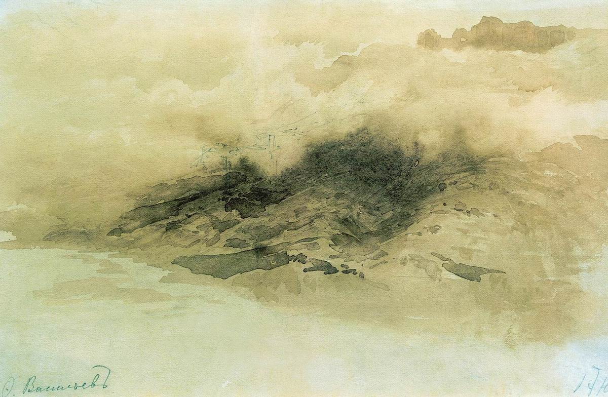 Fedor Alexandrovich Vasilyev Russia 1850 - 1873. Mountains in the clouds. 1873