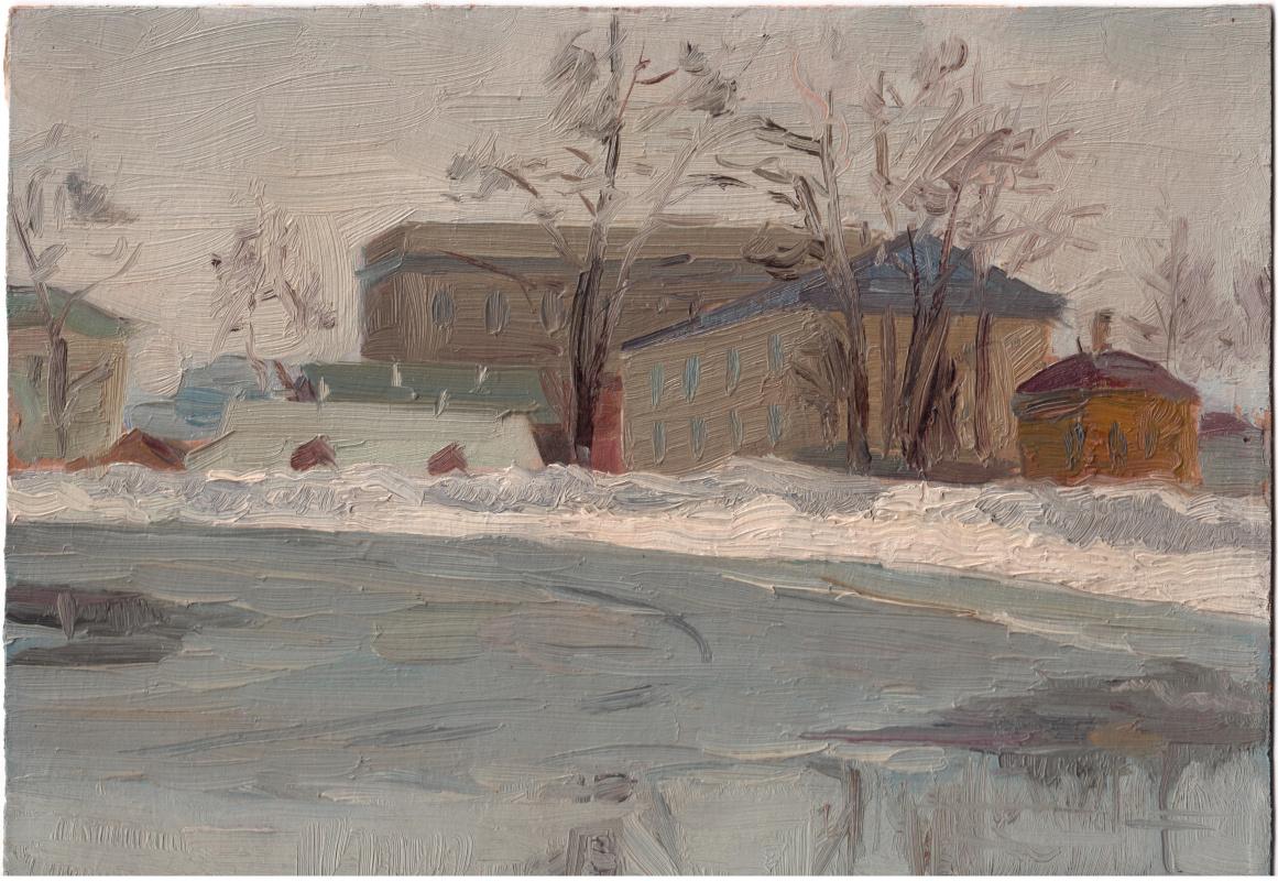 Arkady Pavlovich Laptev. Rink in the backyard