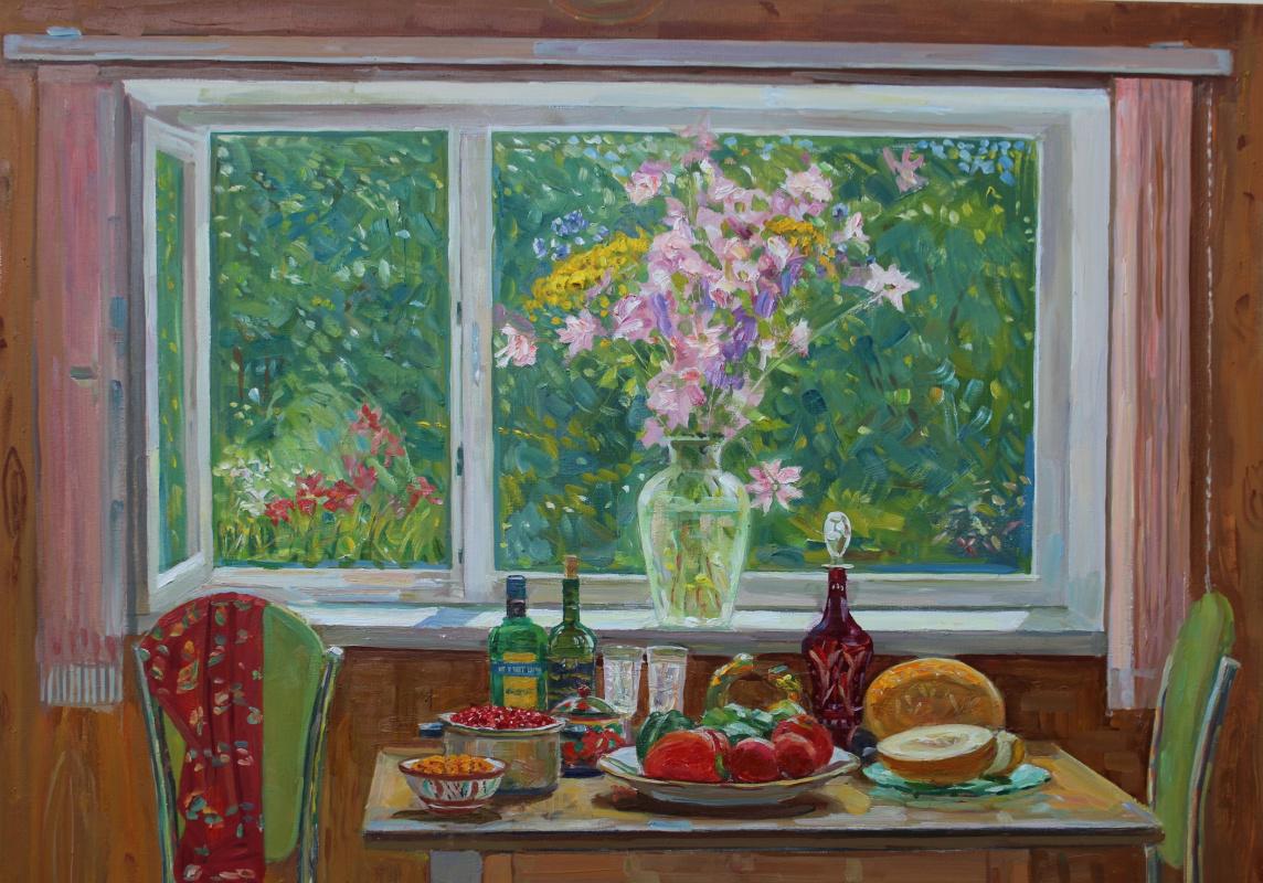 Eugene Alexandrovich Kazantsev. Emerald window.