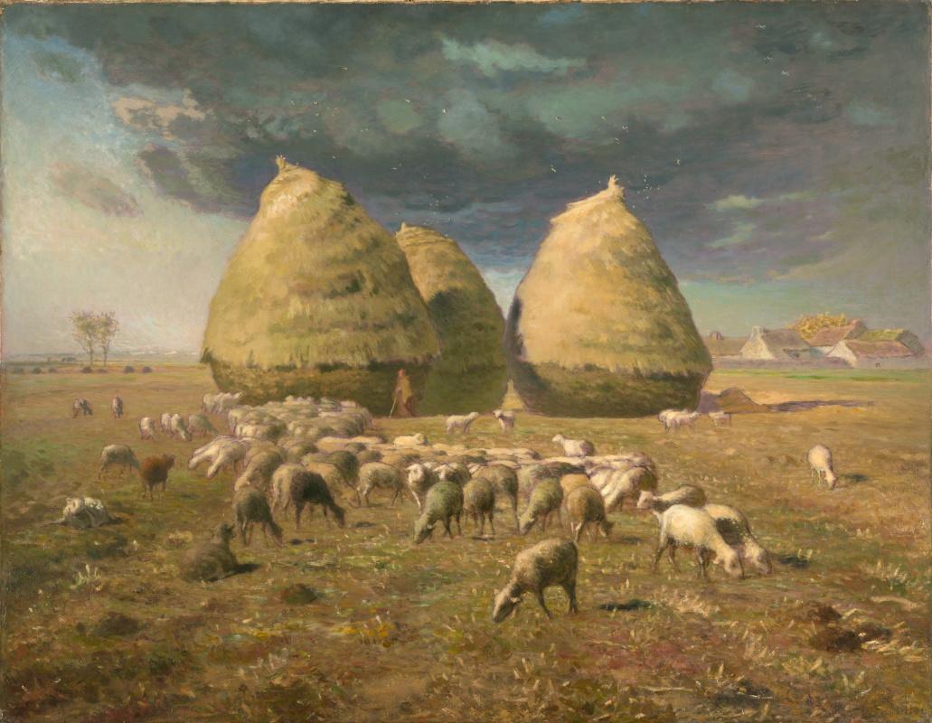 Jean-François Millet. Stacks: Autumn