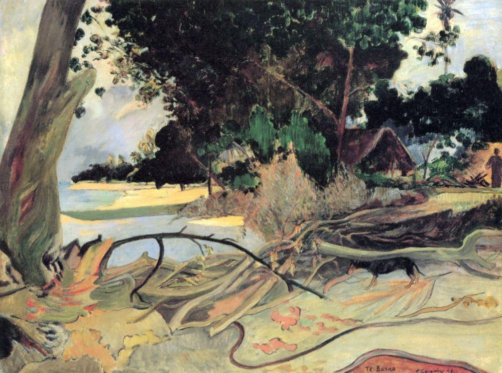 Поль Гоген. Дерево гибискуса
