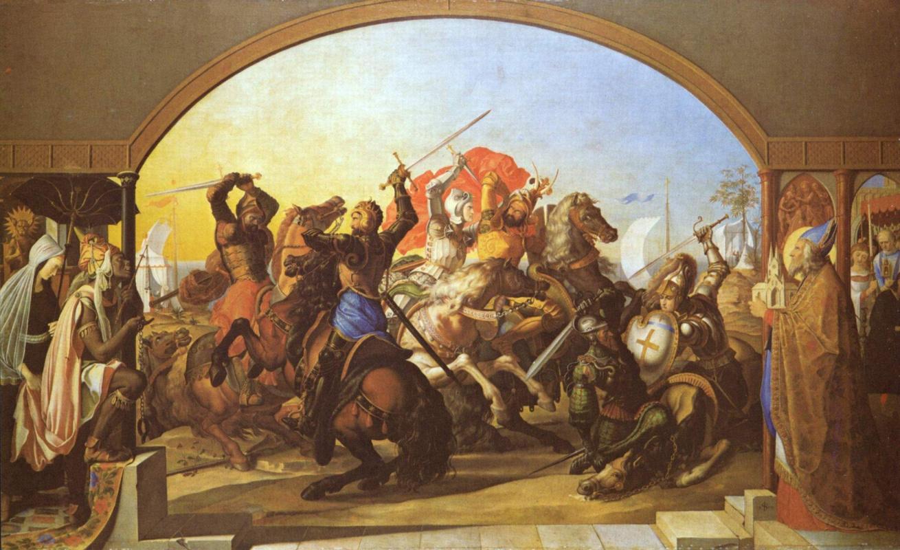 Julius Schnorr von Karolsfeld. Six battle on the island Lipadusa