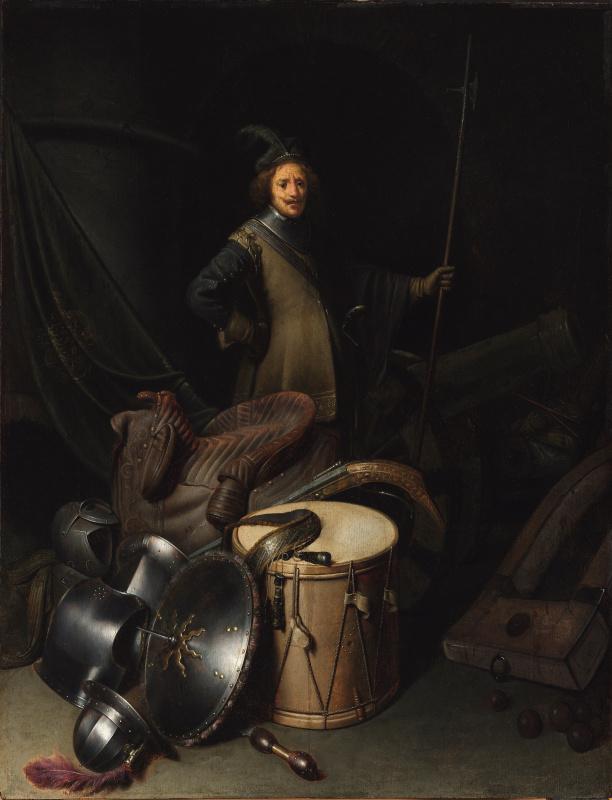 Геррит (Герард) Доу. Солдат в караульном помещении