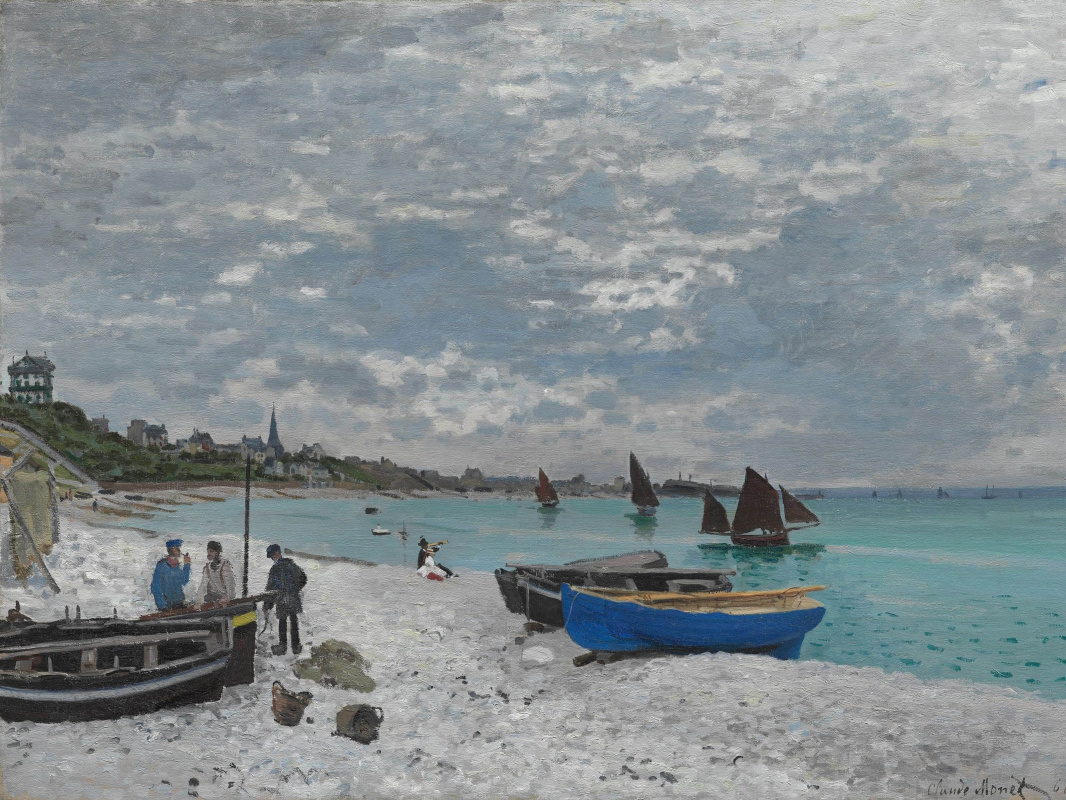 Claude Monet. The beach at Sainte-Adresse