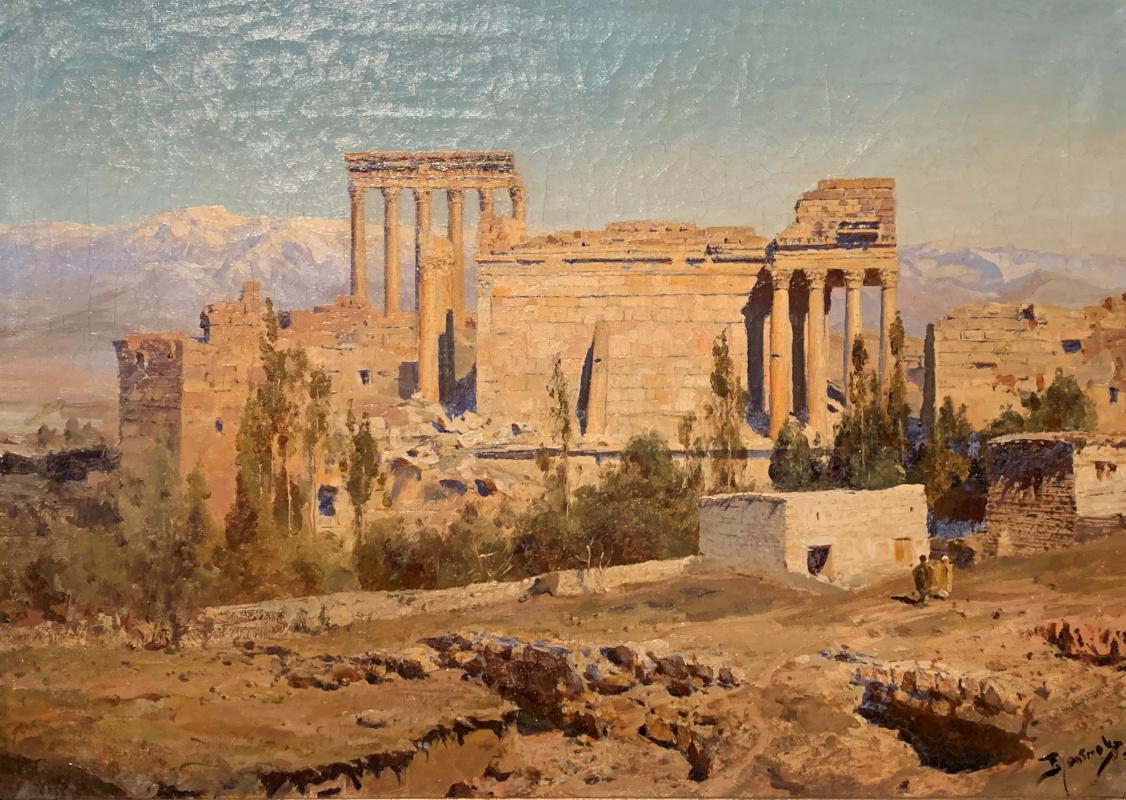 Vasily Polenov. Temple of Jupiter in Baalbek