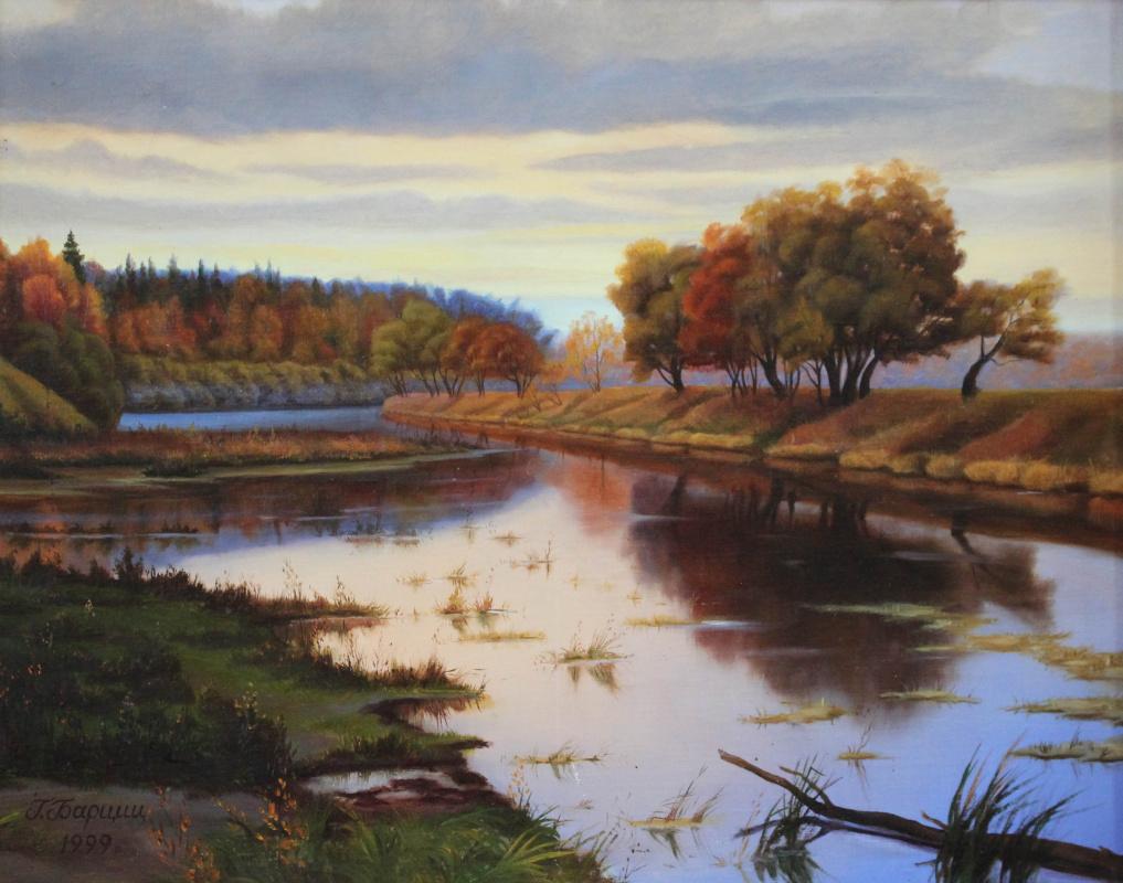 Gennady Shotovich Bartsits. Nikolina Gora, autumn on the Moscow River